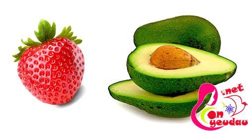 Mặt nạ tạo từ trái cây tự nhiên bơ + dâu tây