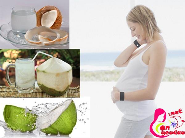 Uống nước dừa khi mang thai thế nào là tốt